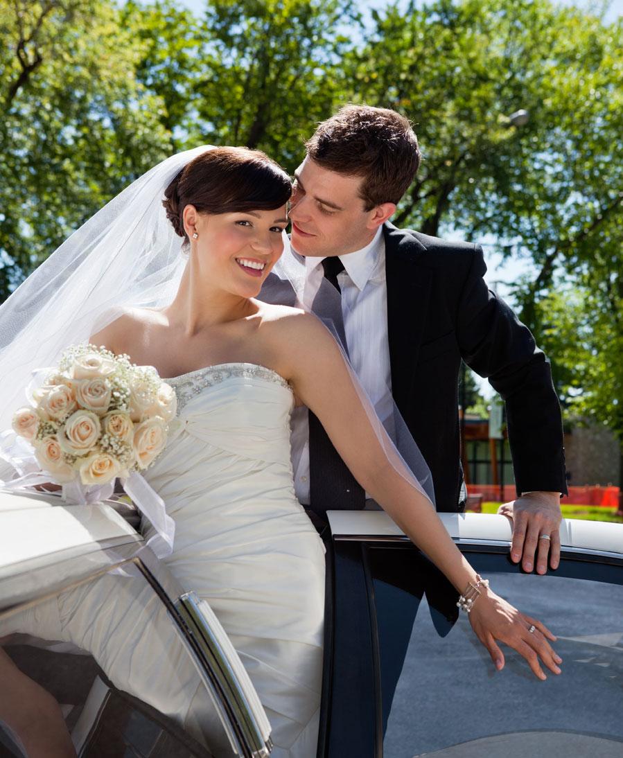 Bryllupskørsel i Limousine