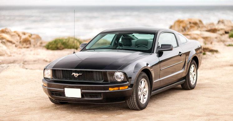 Lej en vaskeægte muskelbil, Ford Mustang