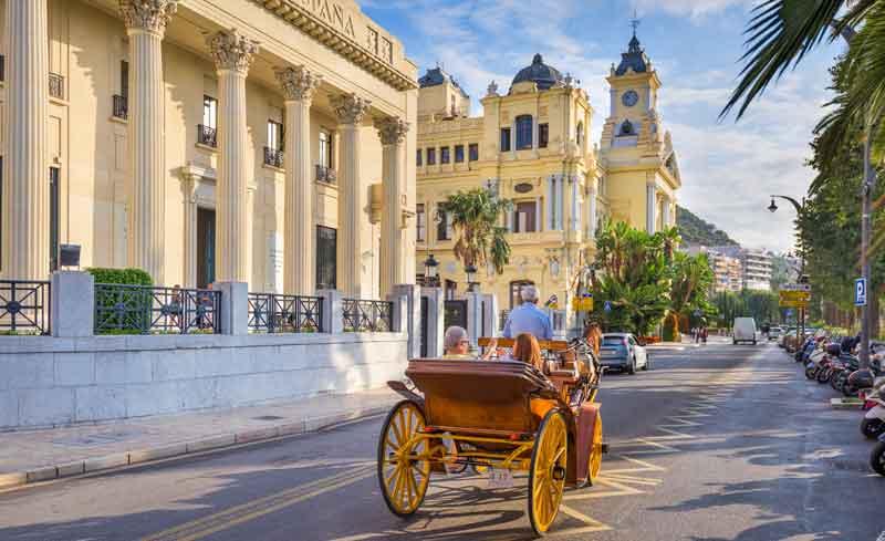 Kørsel i Malaga by